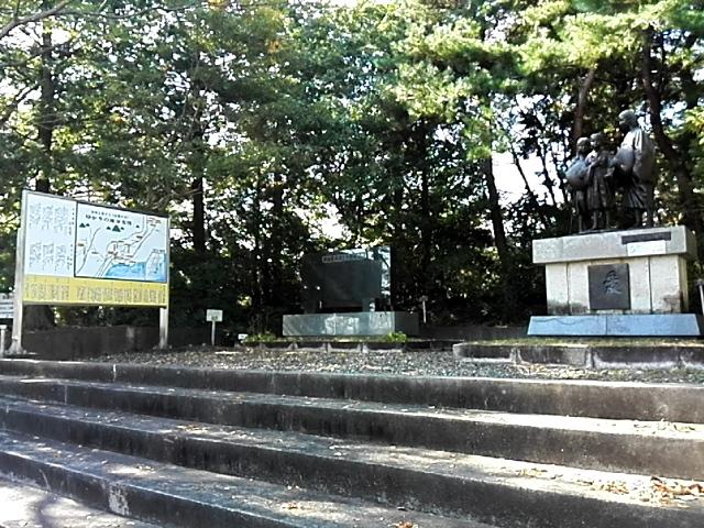 ここから、いわき金山町。ここの「山椒太夫」は、江戸時代に描かれた「岩城実記」をもとにしている。銅像を建て、案内版を設置した方々は、それを歴史であり、実話と受け取っている。
