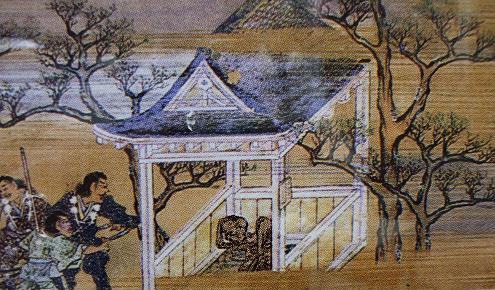 山伏に背負われて熊野入りした餓鬼阿弥は、壺湯に49日つかって、よみがえる。