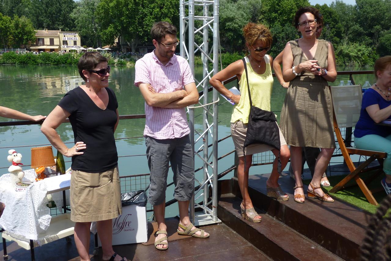 Isabelle Chardonnier, (directrice de la culture - Région Rhône-Alpes), Jonathan Bazin (chargée de mission - Région Rhône-Alpes), Farida Boudaoud et Emmanuelle Bibard