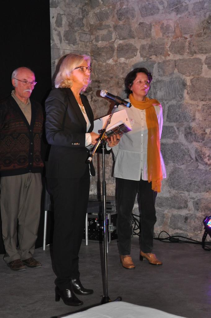 Michèle Ferrier-Barbut, Jean Avezou et Emmanuelle Bibard, Isère