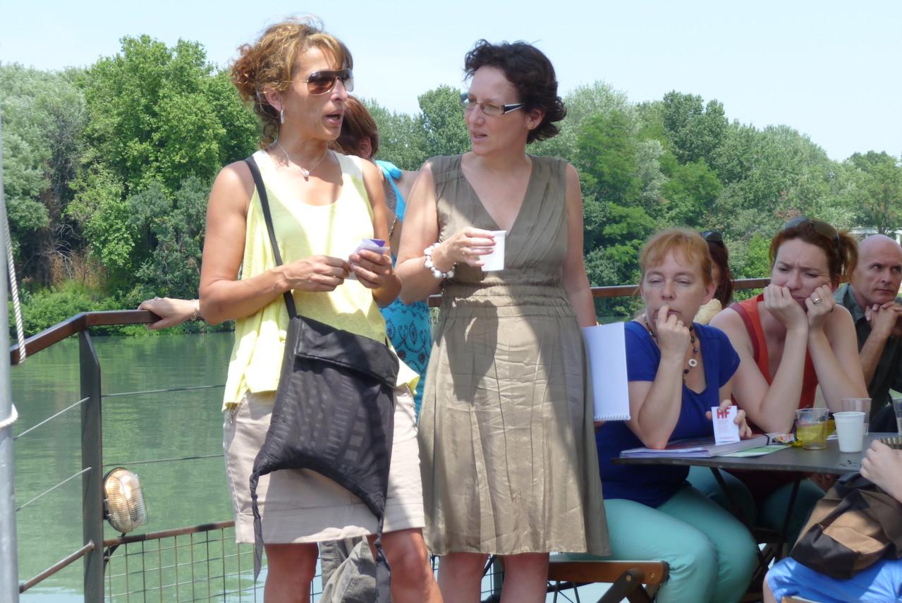 Farida Boudaoud, (vice-présidente déléguée à la culture - Région Rhône-Alpes) et Emmanuelle Bibard, HF Rhône-Alpes