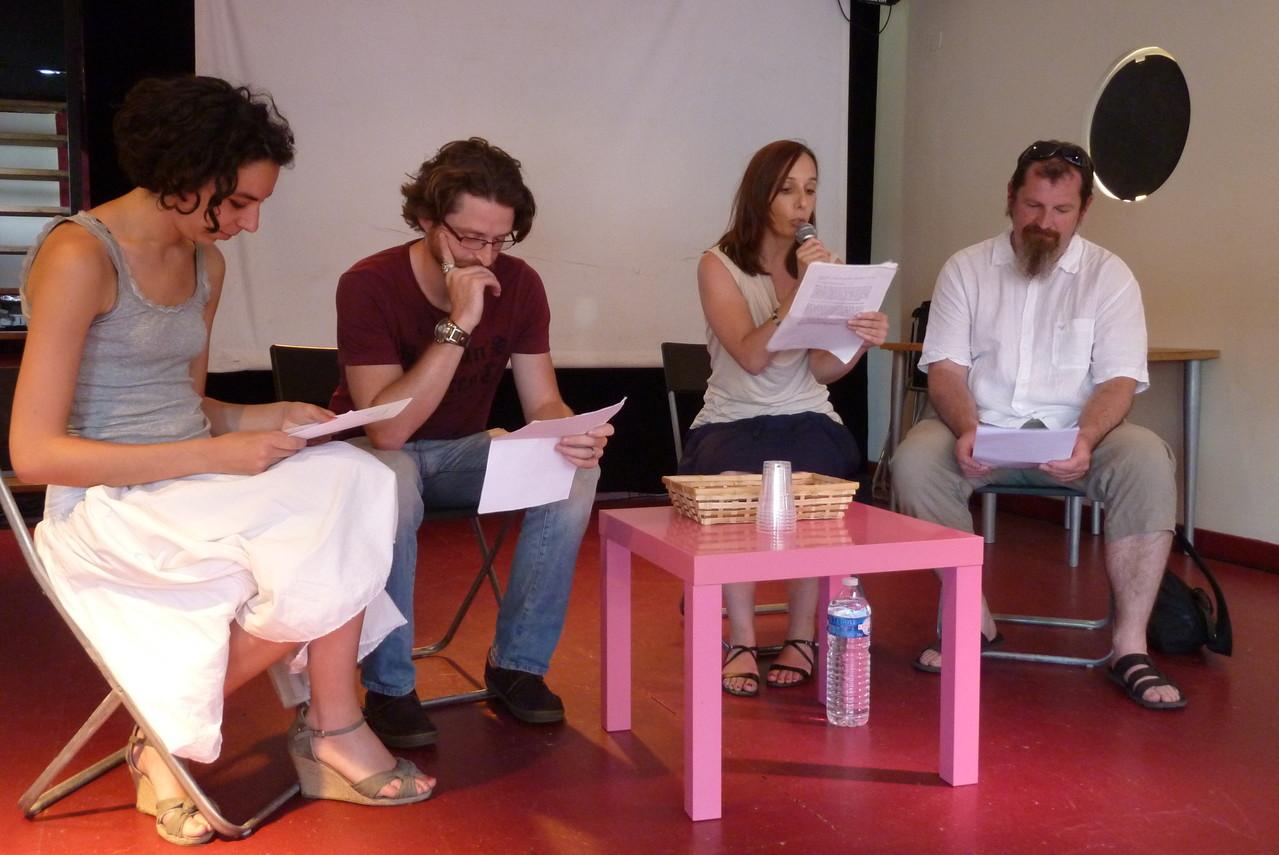 Chloé Bégou, Florian Santos, Aurore Evain et Stéphane Frimat