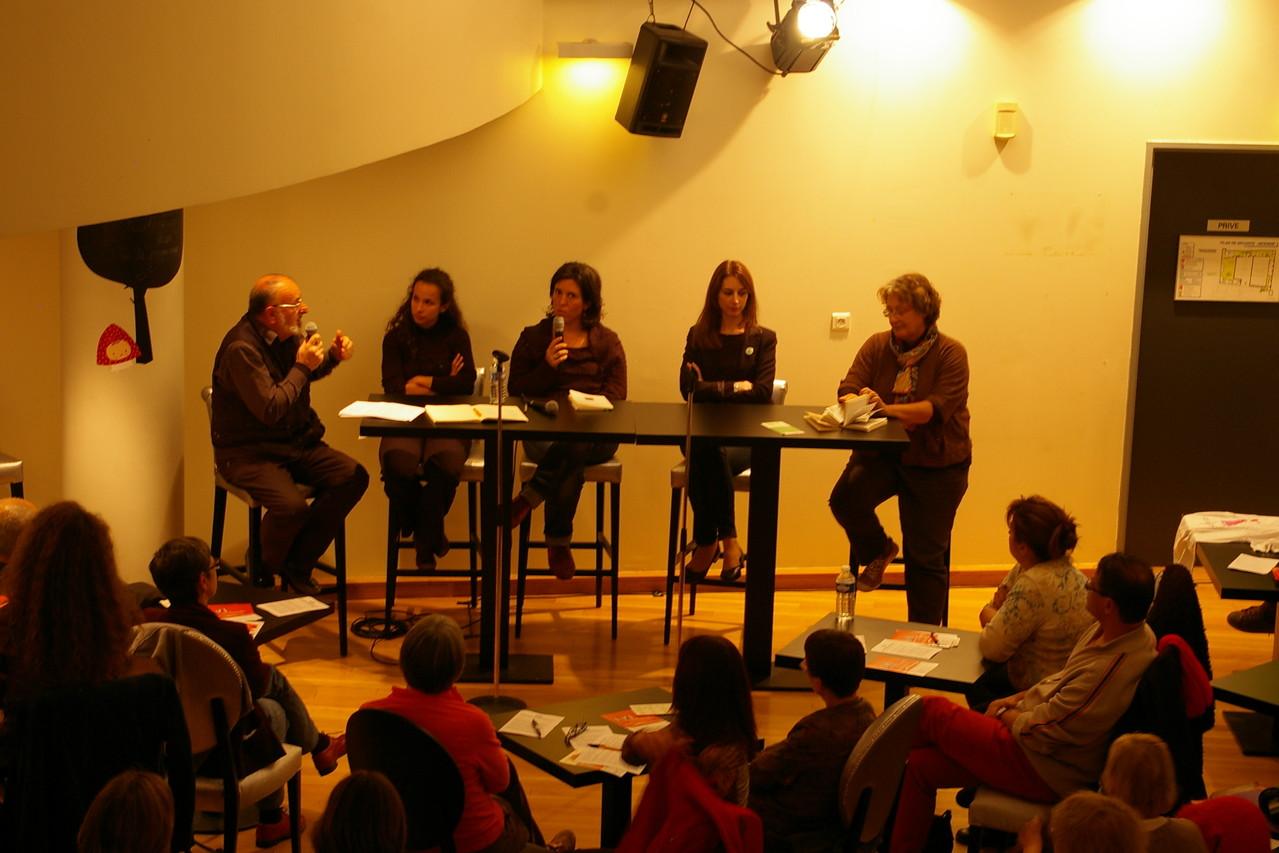 Débat au Théâtre de Bourg-en-Bresse, Ain