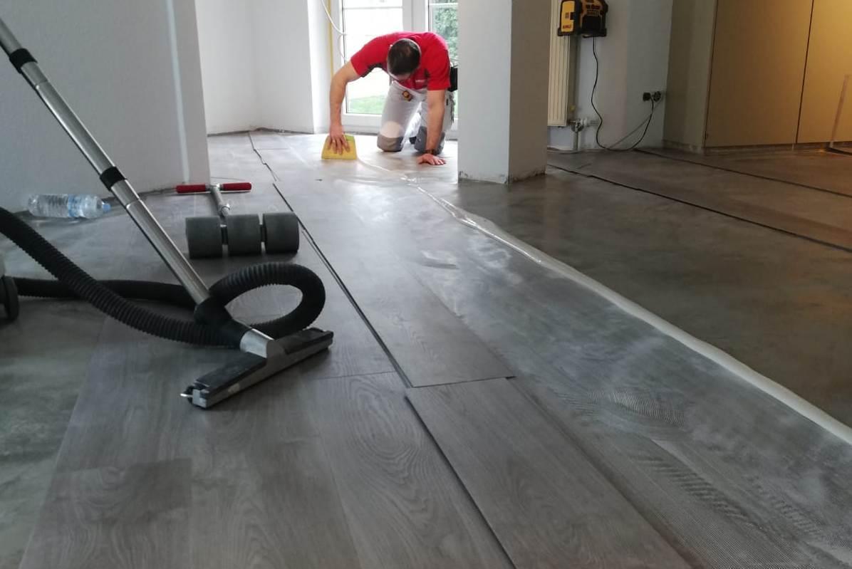 Fußboden verlegen
