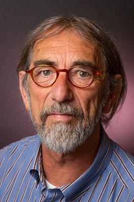 Dick Gerritsen, bas en speelt de bodhrán (uitgesproken als bauwron)