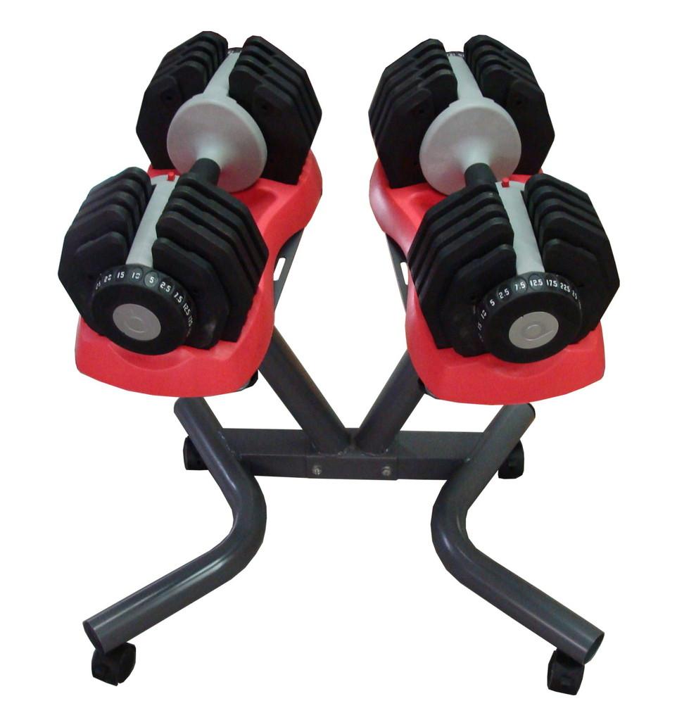verstellbares hantelpaar von 2 5 kg bis 25 kg incl st nder bei k o24. Black Bedroom Furniture Sets. Home Design Ideas