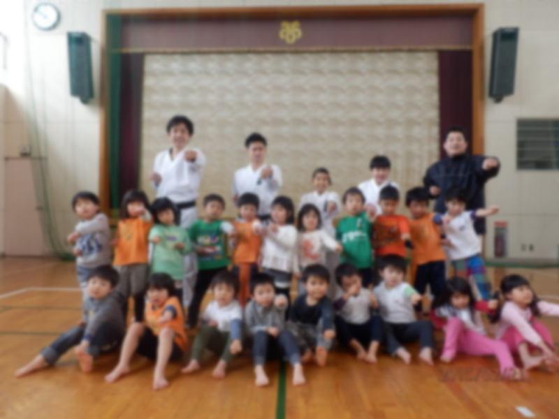 北方町空手エクササイズ 幼児クラス集合写真