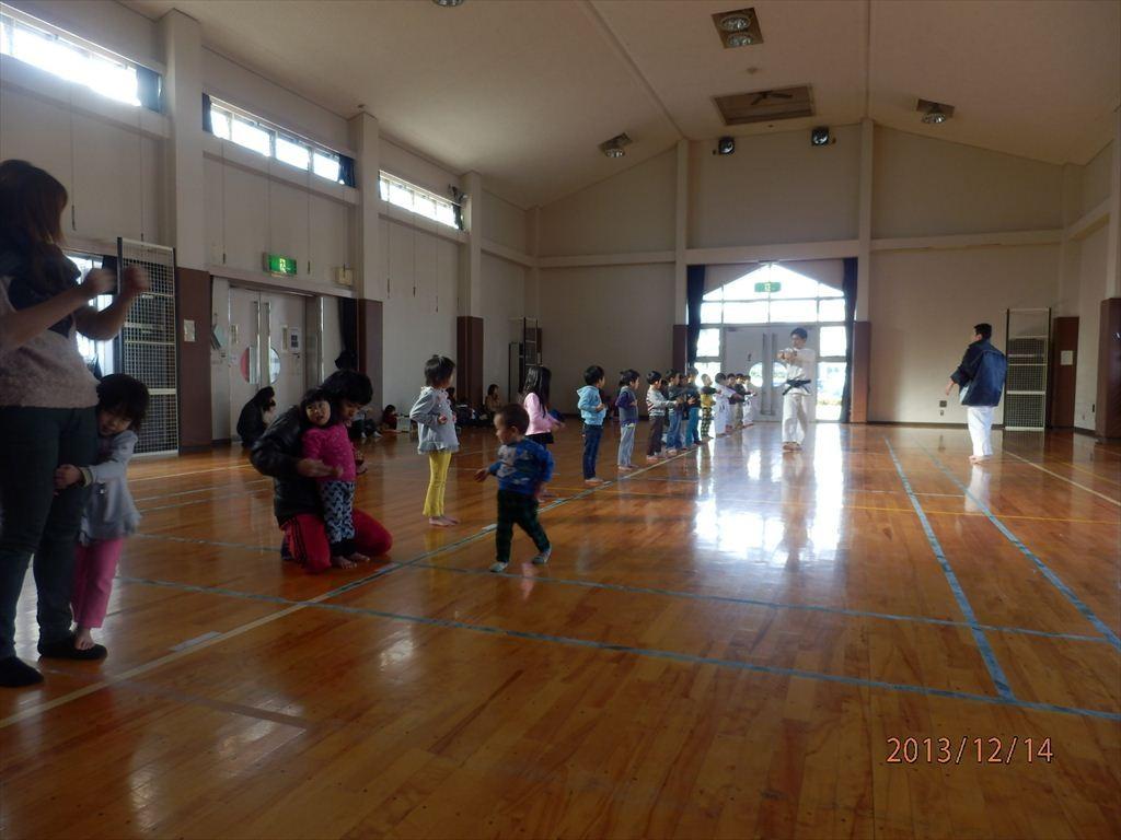 北方町空手エクササイズ 幼児クラス練習風景
