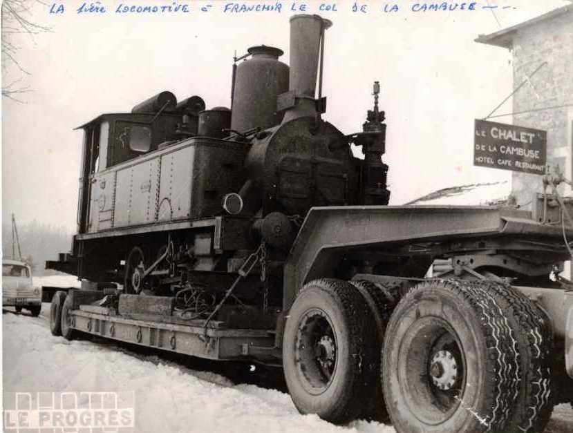 1969, la première locomotive à franchir le col de la Cambuse