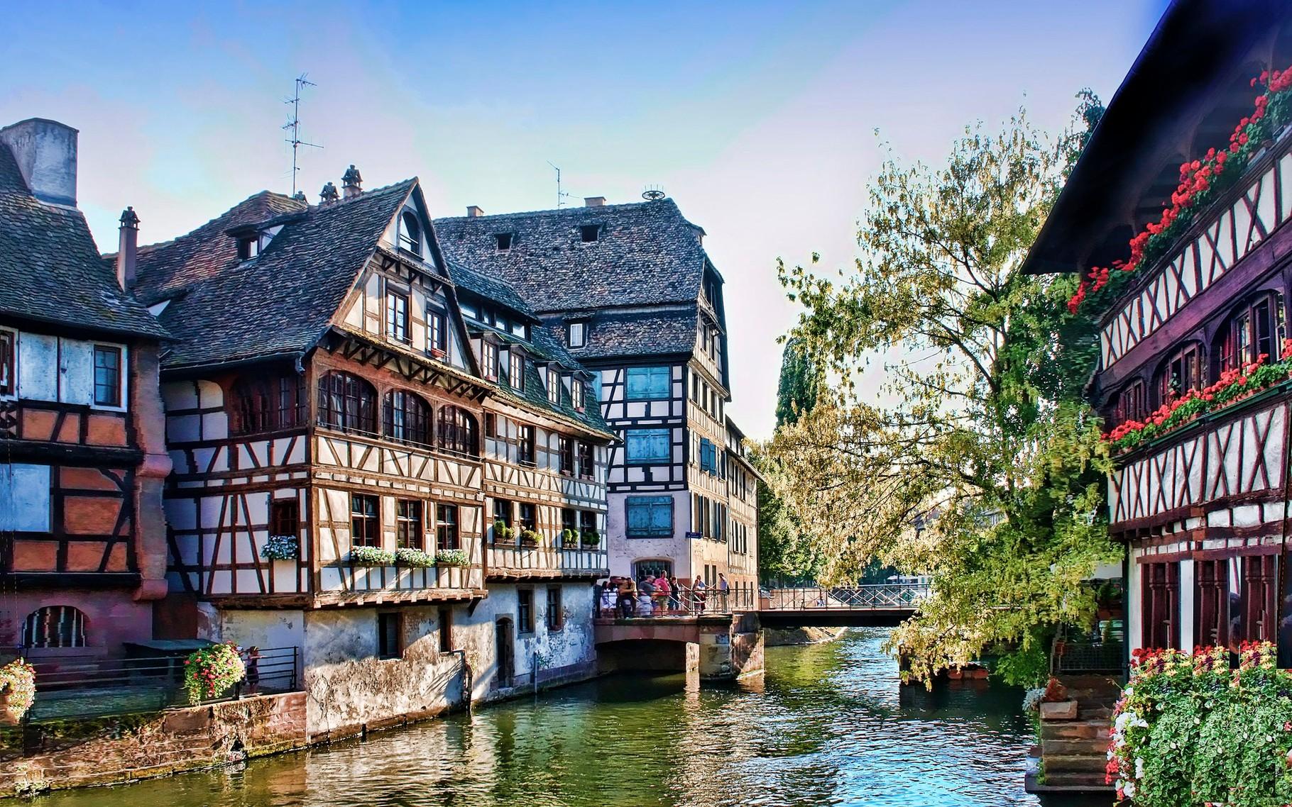 "Straßburg, Alsace with ""Petite France"""
