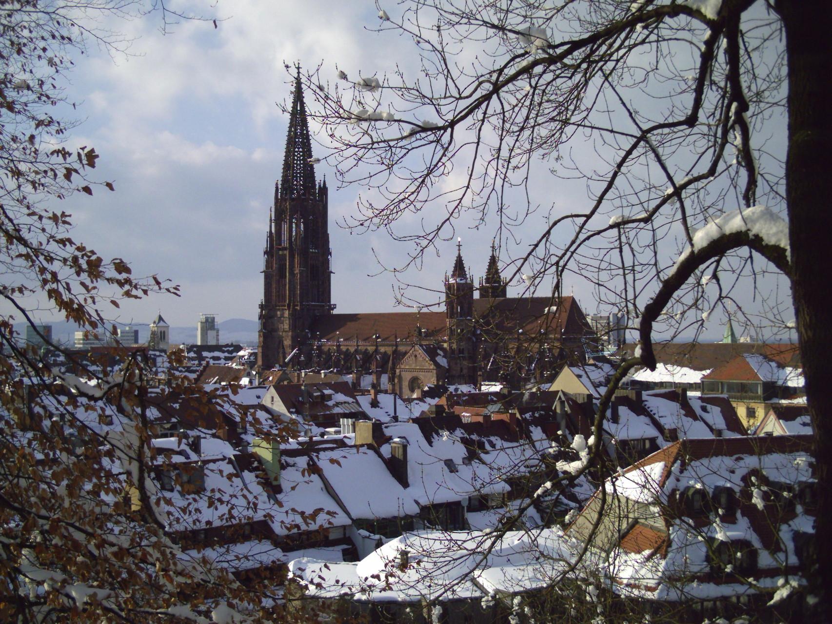 Freiburg im winterlichen Gewand