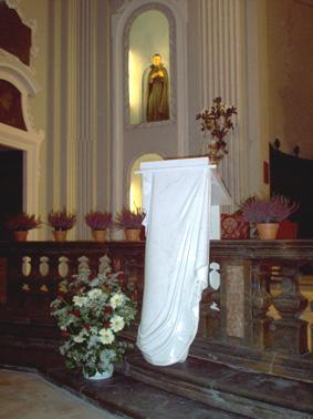 Ambo - Chiesa SS. Assunta, Monsampolo del Tronto (AP), Italien Marmo di Carrara, Blattgold