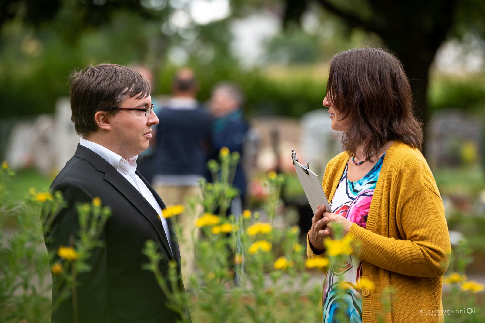 Pfarrer Braun mit Kristina Kanaan