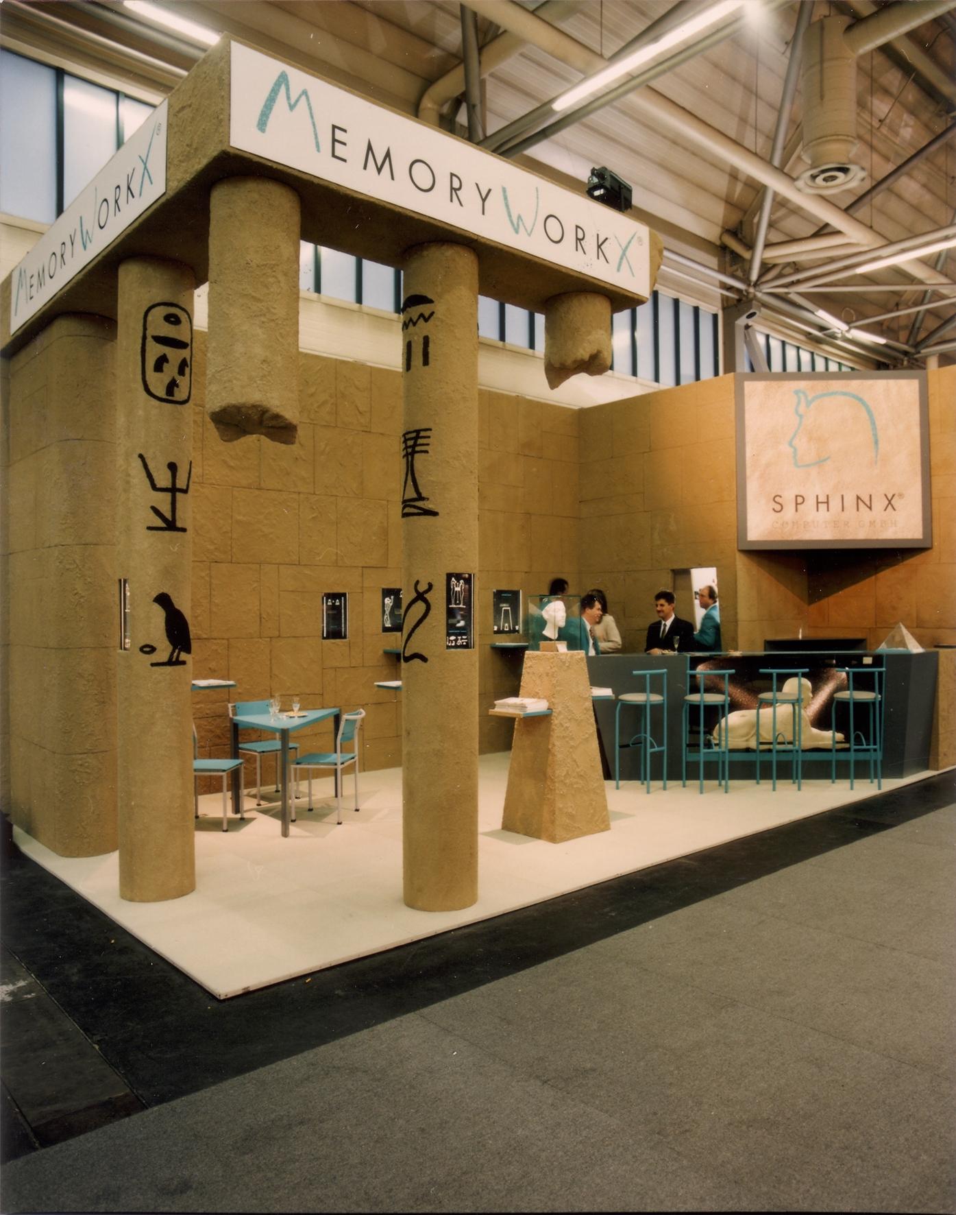 Cebit/Systems - Firma Sphinx Computer GmBH, 1995-1998 mit Leihgaben aus der Ägyptischen Sammlung München