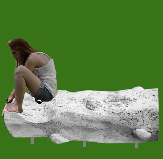 """""""L'acqua risponde"""" (Wasser antwortet) - Travestinstein - Skulpturenweg, Spinetoli (AP), Italien"""