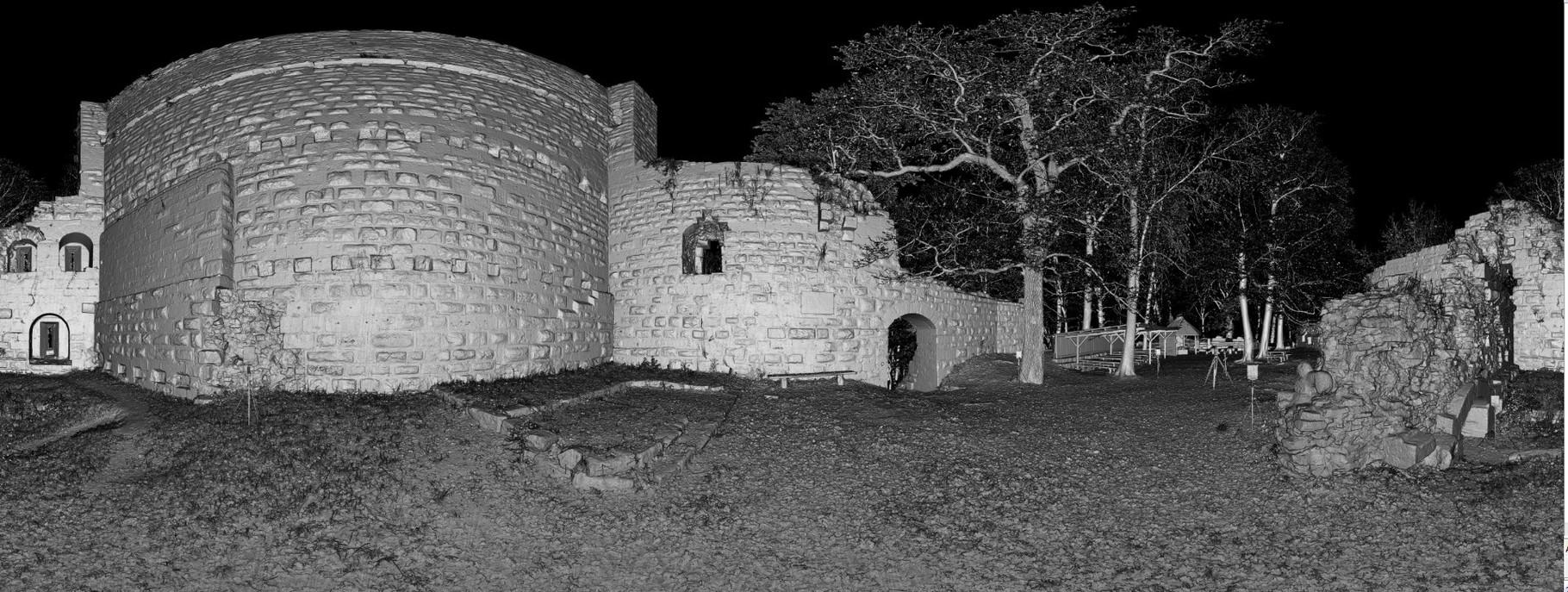 Scannerdaten, 360°-Scan Burg innen