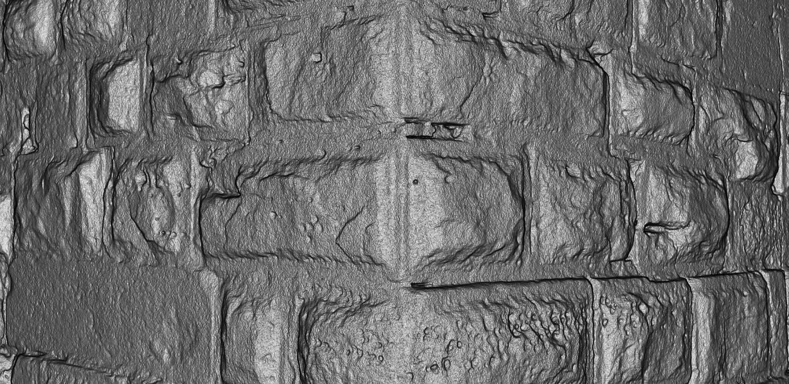 Scannerdaten, Detailaufnahme Mauereck