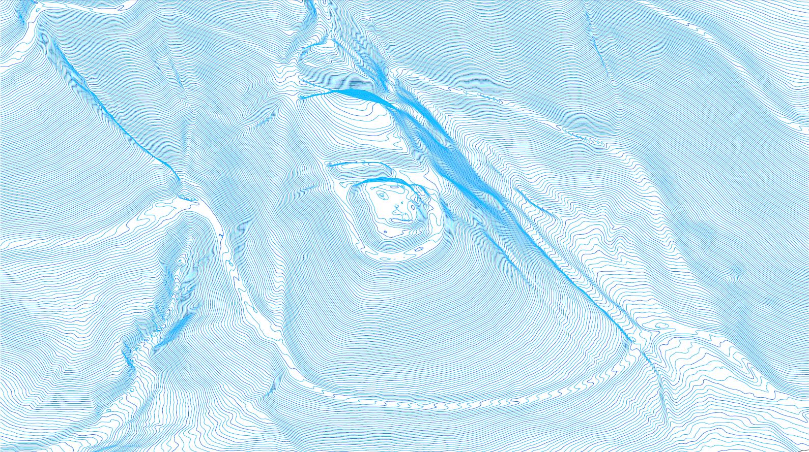 Digitales Höhenmodell, Ansicht von Nord-ost