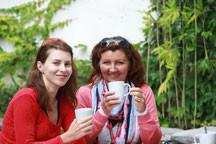 Marta Kischka und Agata Koch, Initiatorinnen des SprachCafés in Pankow, lassen ihre Ideen immer mehr werden.