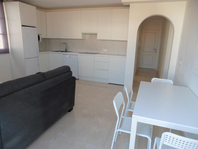 Blick auf den Wohn- Essraum mit Küche