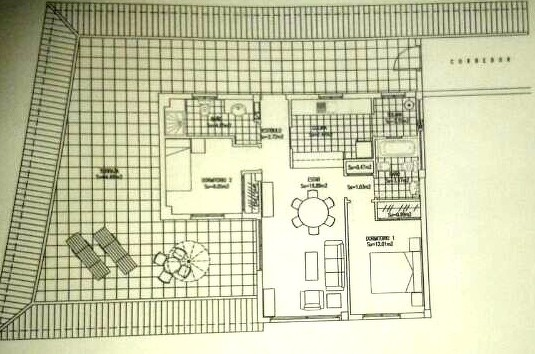 Bild: Zeigt die räumliche Aufteilung vom Penthaus - Apartment was Langzeit gemietet werden kann.