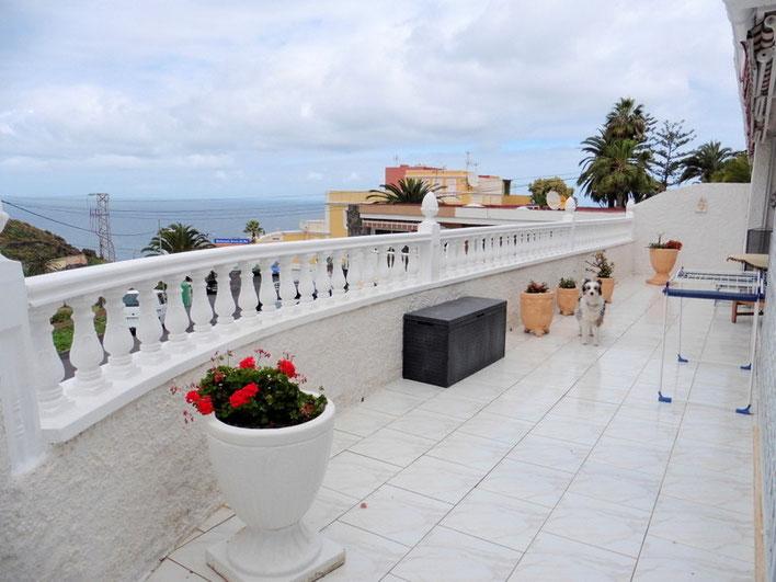 Blick von der hinteren Terrasse