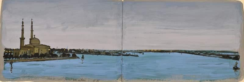 """Canal de Suez, à bord de la frégate ASM """"Dupleix"""""""
