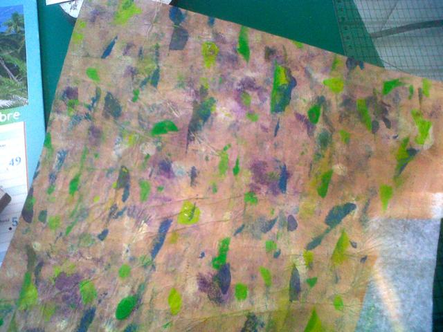 Papier fait à l'atelier