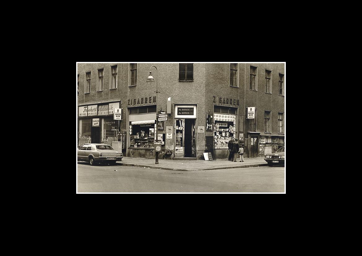 "- 1978 -Vintage, ""Zigarettenladen"" Adalbertstraße 19 / Naunynstraße"