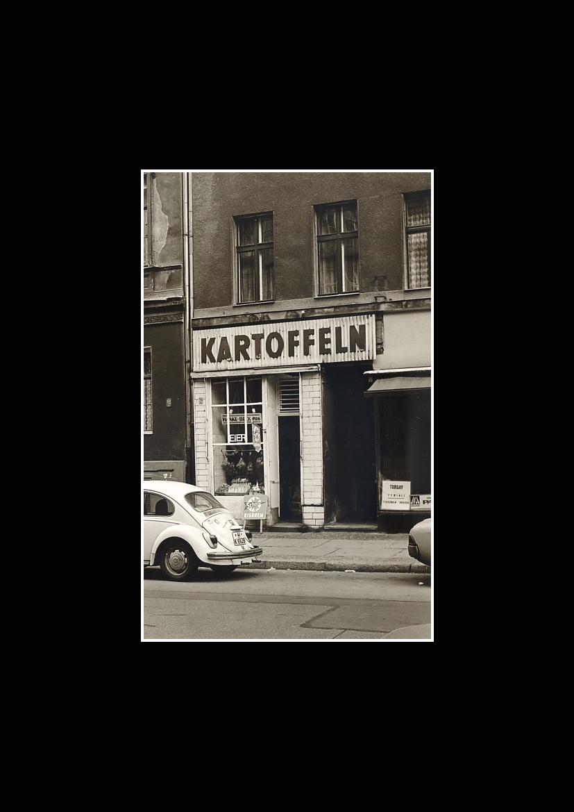 "-1978- Vintage ""Kartoffelladen"" Adalbertstraße 13"