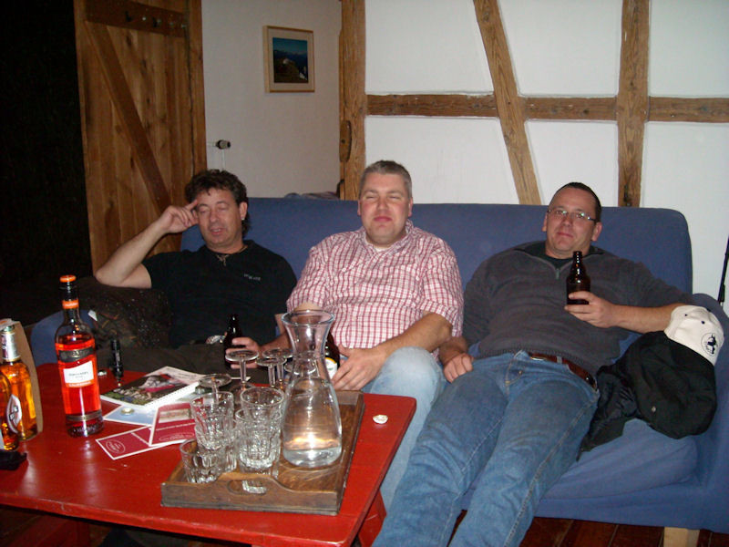 und die drei von der Tankstelle! Ähem... sorry... von links:  Piet, Lars und Dennis.  :-)