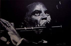 Maceo Parker,Pastellkreide,60x90 cm