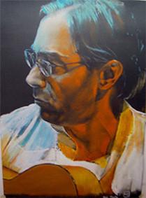 Al di Meola ,Pastellkreide ,70x50 cm
