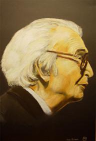 Dave Brubeck, Pastellkreide,70x50 cm