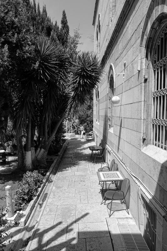The garden of the Austrian Hospice © François Struzik - simply human 2019 - Jerusalem