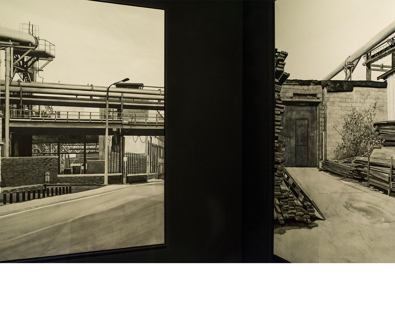 Détail de l'installation - Exposition au Musée des Tapisseries - Aix-en-Provence -  2015