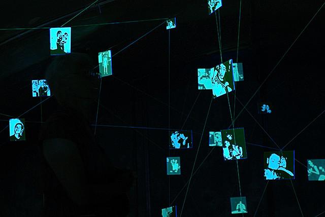 Installation in situ réalisée au MuseeAv, Nice, 2009