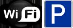 WLAN-Internet und Parkplatz kostenlos