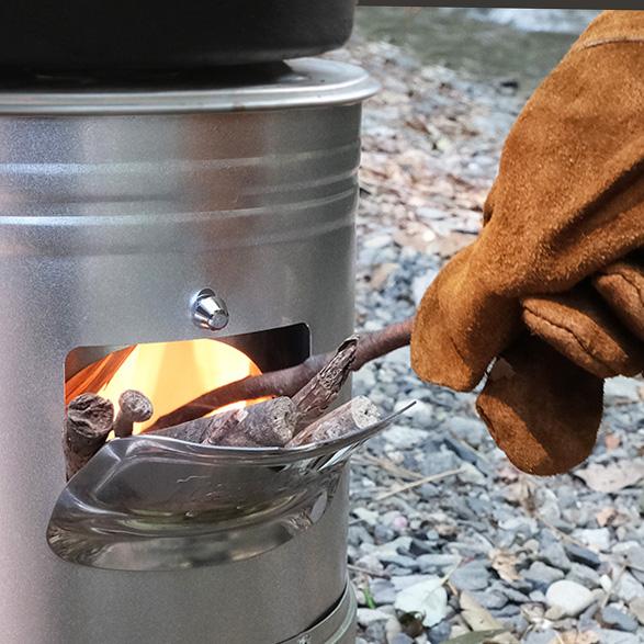 調理中に燃料を追加しやすい