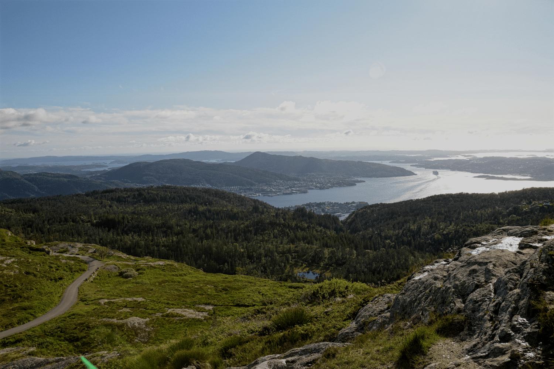 Einen besseren Ausblick über Bergen gibt es fast gar nicht