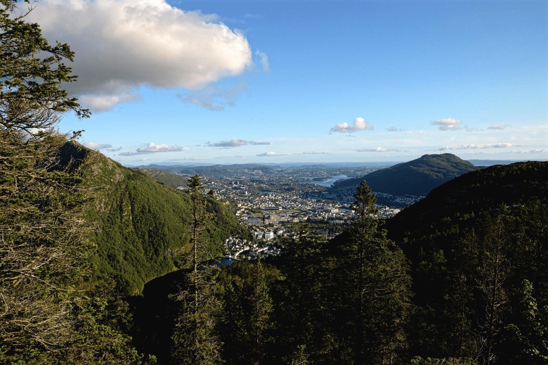 Ausblick auf dem Rückweg der Wanderung