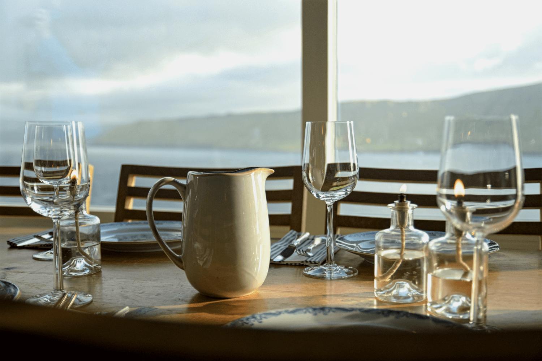 Abendessen mit Ausblick
