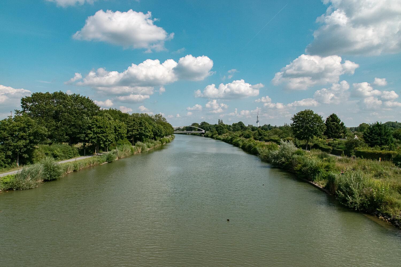 Der Mittellandkanal fließt ganz ruhig daher