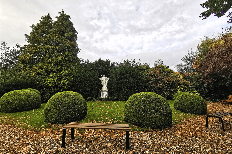 Der Garten der St. Stephanuskirche