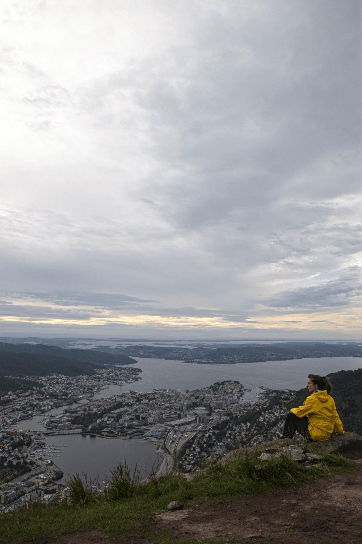 Vom Berg Ulriken: Auch mit Wolken im Hintergrund ein tolles Panorama