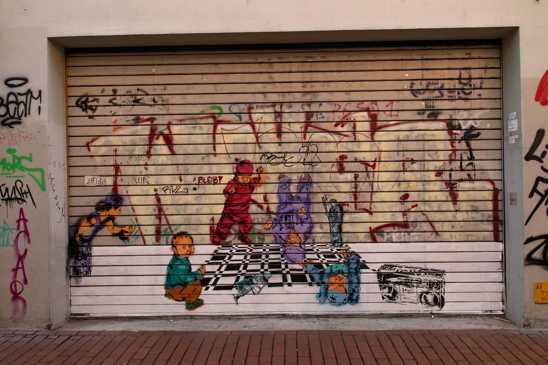 Streetart in der Innenstadt