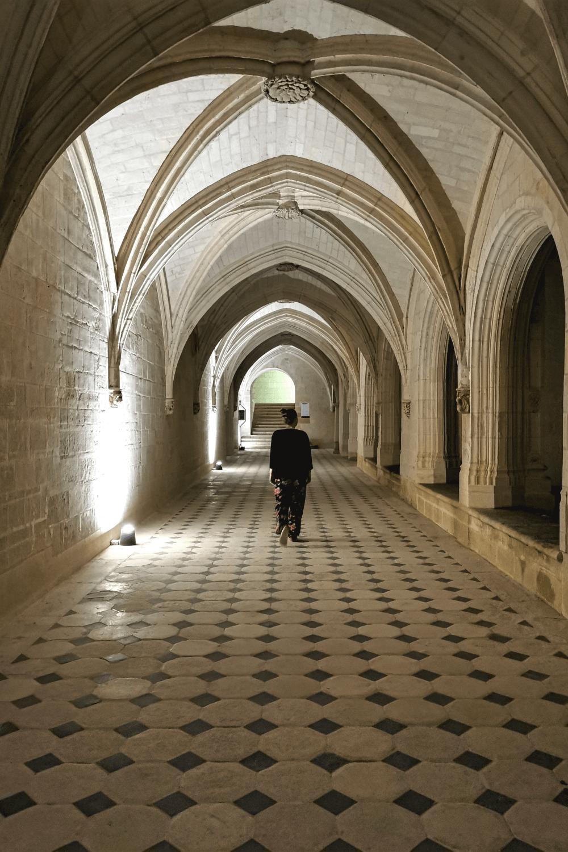 Im Kreuzgang der Abtei.