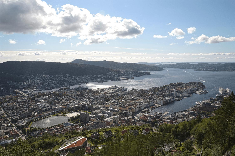 Aussicht vom Berg Fløyen
