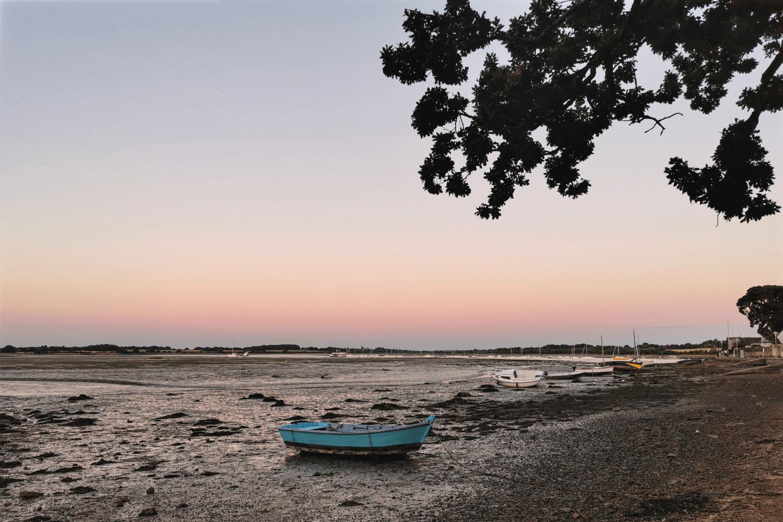 Sonnenuntergang auf der L'île de Conleau