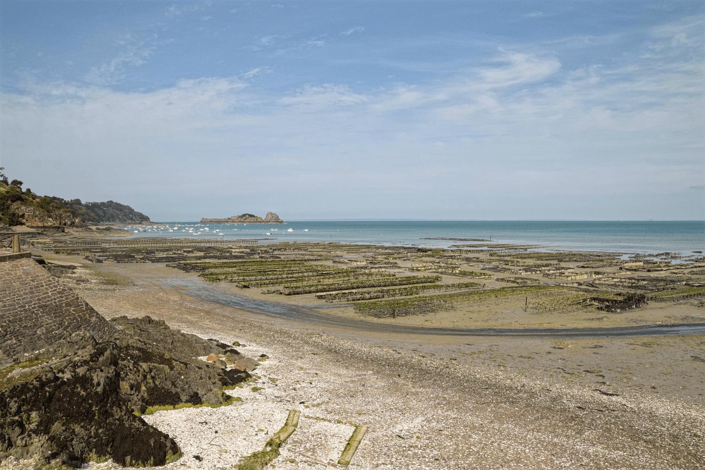 Die Austernfischeranlage in Cancale